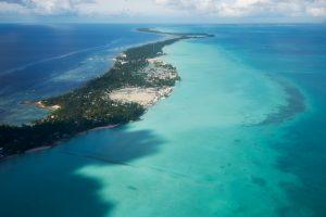 Aerial view of Kiribati